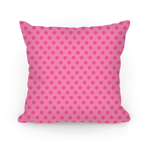 Pink Polka Dot Pattern Pillow