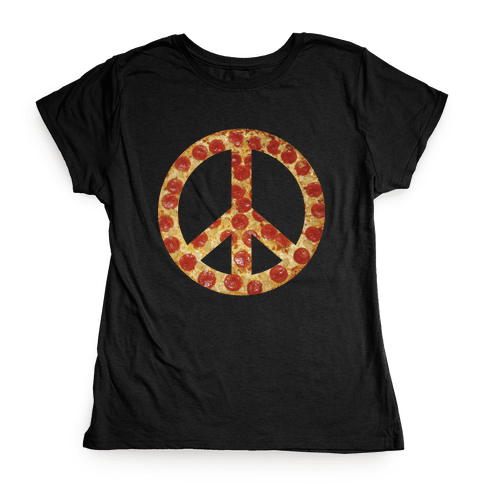 Peace Of Pizza Womens T-Shirt
