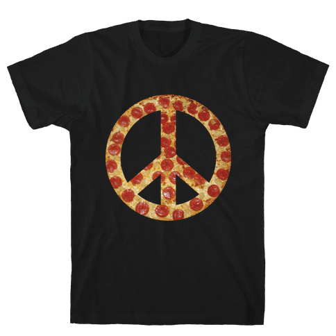 Peace Of Pizza Mens T-Shirt