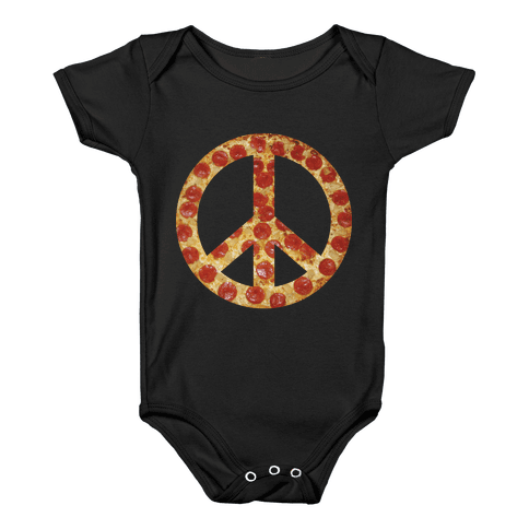 Peace Of Pizza Baby Onesy