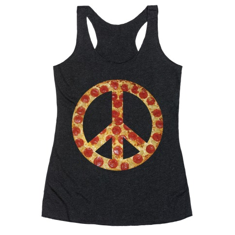 Peace Of Pizza Racerback Tank Top