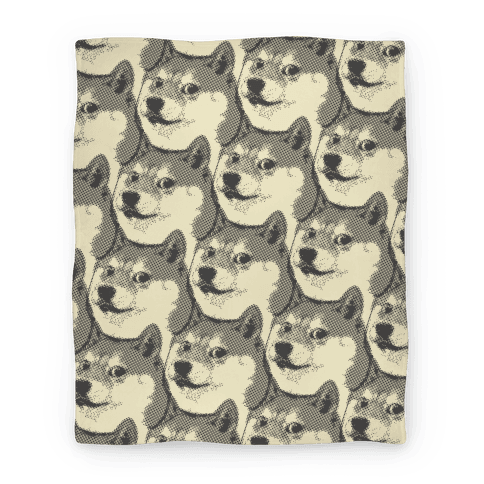 Doge Pattern (Black & White) Blanket