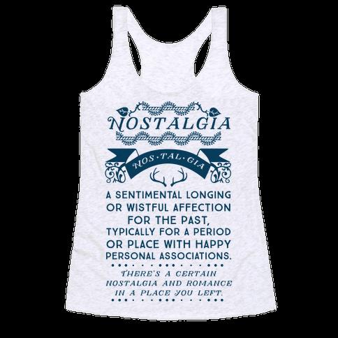 Nostalgia Definition - Racerback Tank - HUMAN