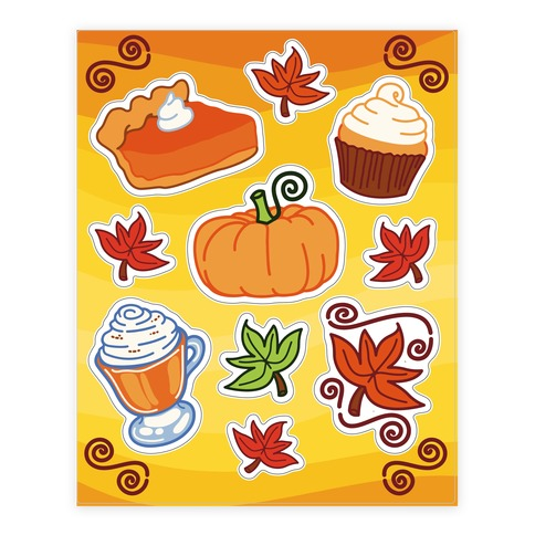 Pumpkin Spice  Sticker and Decal Sheet