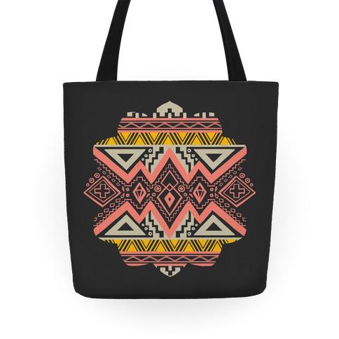 Aztec Mandala Tote