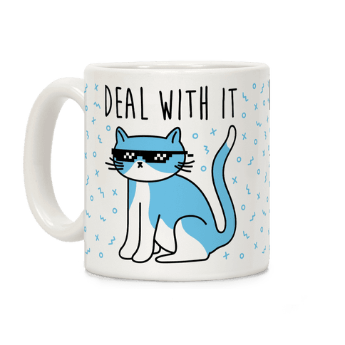 Deal With It Cat Coffee Mug