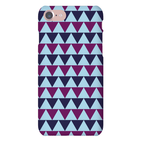 Triangle Pattern Case (Blue) Phone Case