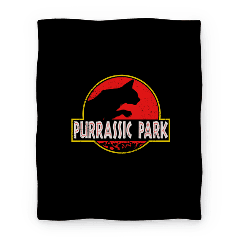 Purrassic Park Blanket