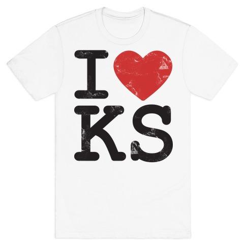 I Love Kansas Mens T-Shirt