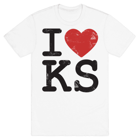 I Love Kansas Mens T-Shirt