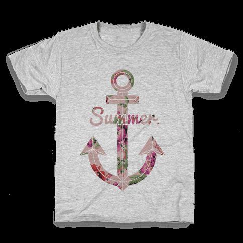 Summer Anchor Kids T-Shirt