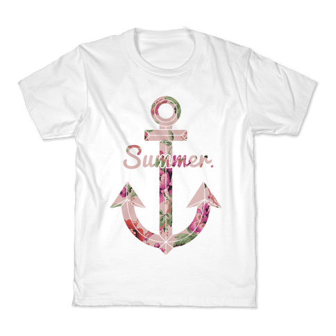 Summer Anchor Kids T-Shirt