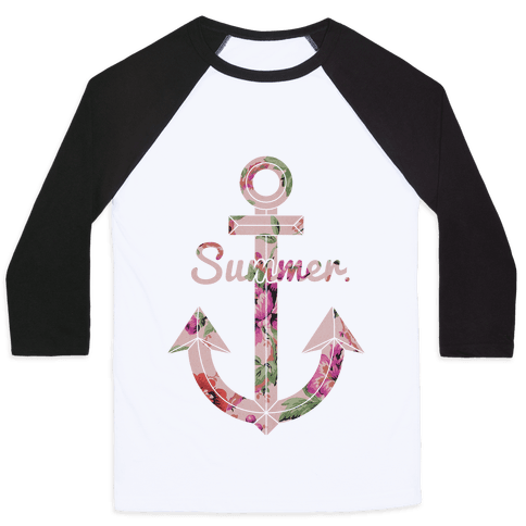 Summer Anchor Baseball Tee