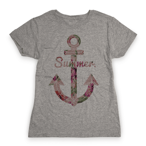 Summer Anchor Womens T-Shirt