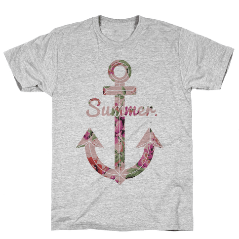 Summer Anchor Mens T-Shirt