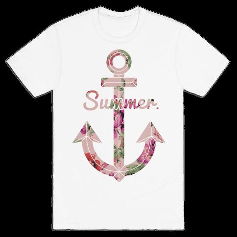 Summer Anchor Mens T-Shirt