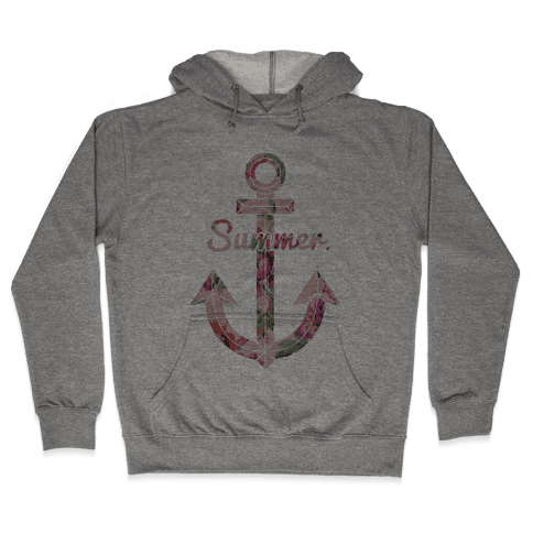 Summer Anchor Hooded Sweatshirt