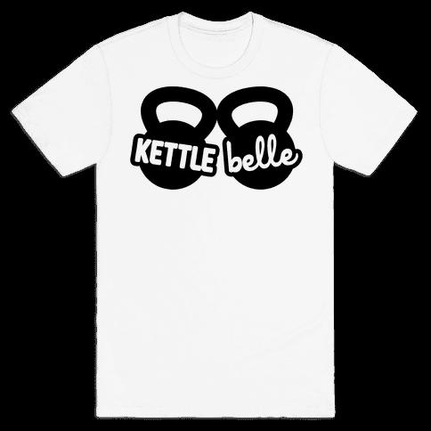 Kettle Belle Crop Top Mens T-Shirt