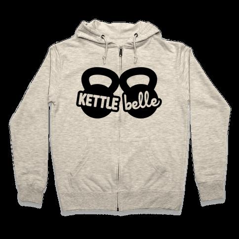 Kettle Belle Crop Top Zip Hoodie