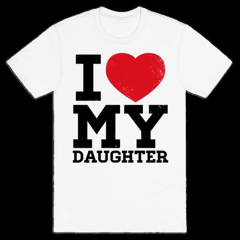 I Heart My Daughter Mens T-Shirt