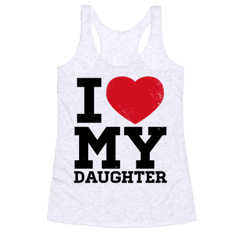 I Heart My Daughter Racerback Tank Top