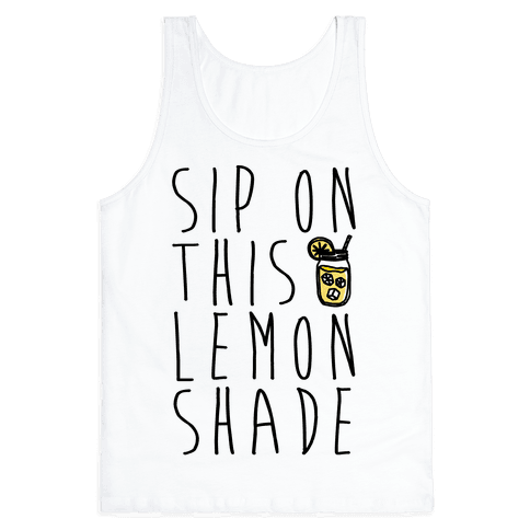 Sip On This Lemon Shade Tank Top