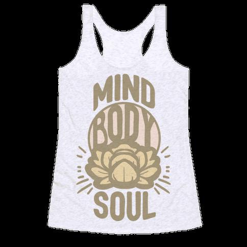 Mind Body Soul Racerback Tank Top