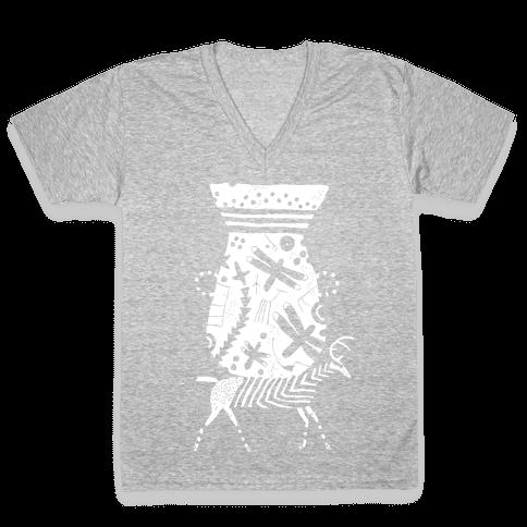 Deer Pot V-Neck Tee Shirt