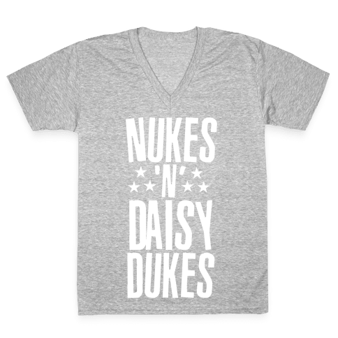 Nuke's 'n Daisy Dukes V-Neck Tee Shirt