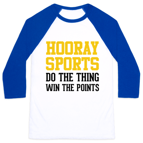 Hooray Sports (Yellow) Baseball Tee