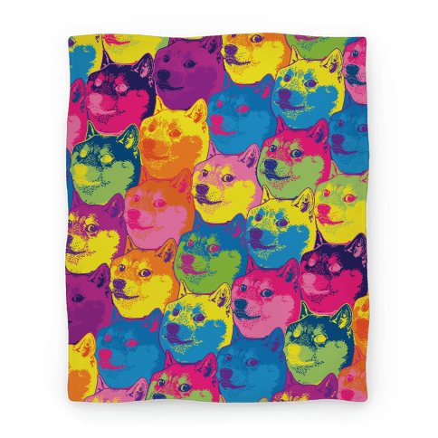 Pop Art Doge Blanket Blanket