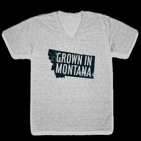 Grown in Montana V-Neck Tee Shirt