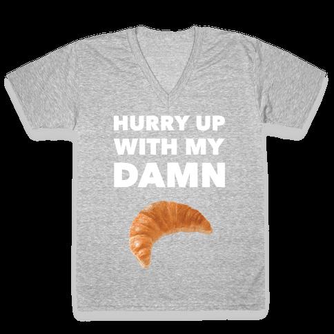 Hurry Up V-Neck Tee Shirt