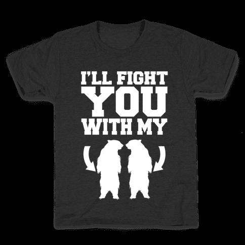 Bear Hand Fight Kids T-Shirt