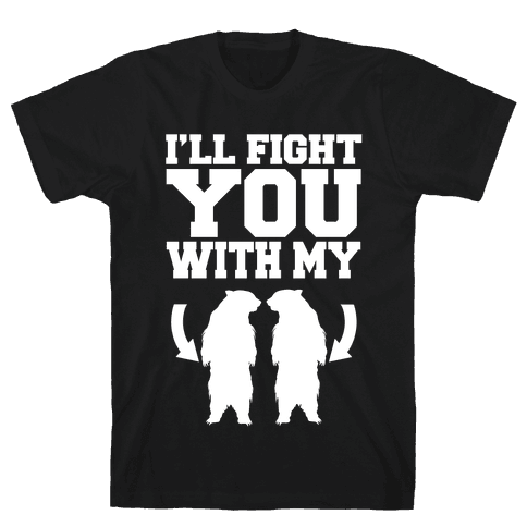 Bear Hand Fight Mens T-Shirt