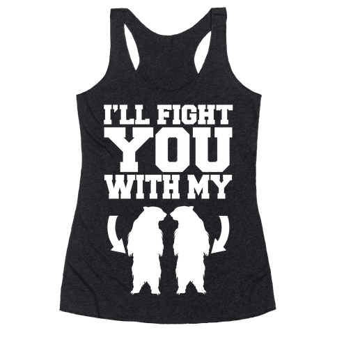Bear Hand Fight Racerback Tank Top