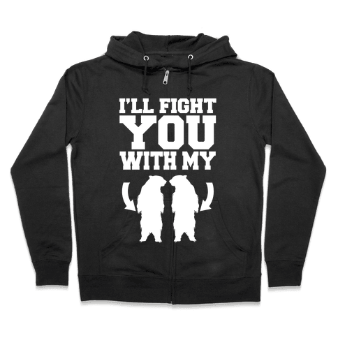 Bear Hand Fight Zip Hoodie