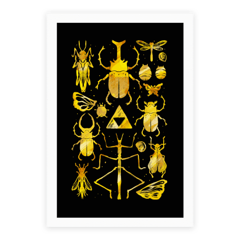 Golden Bug Collector Poster