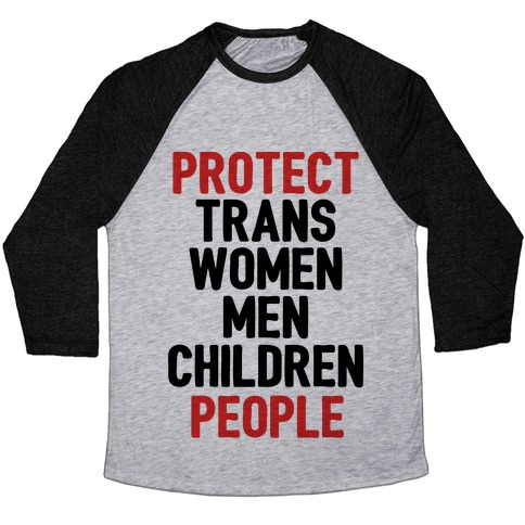 Protect People Baseball Tee