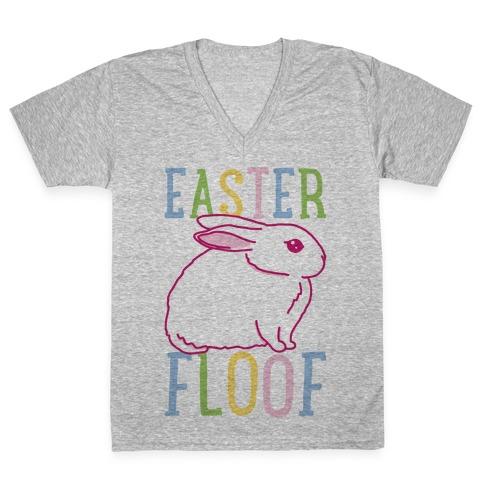 Easter Floof V-Neck Tee Shirt