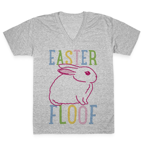 Easter Floof V-Neck Tee Shirt