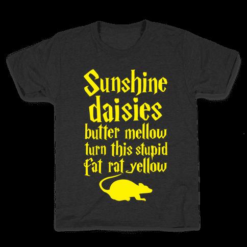 Sunshine, Daisies, Butter Mellow Kids T-Shirt