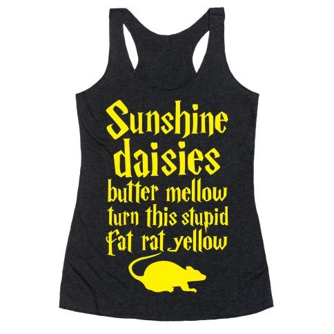 Sunshine, Daisies, Butter Mellow Racerback Tank Top
