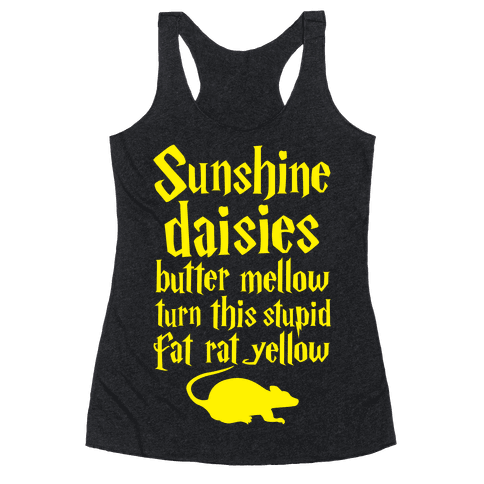 Sunshine, Daisies, Butter Mellow Racerback Tank Top
