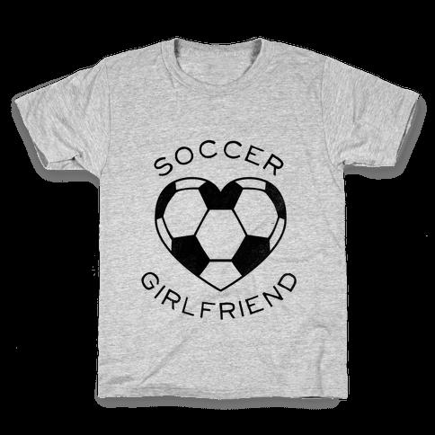 Soccer Girlfriend (Baseball Tee) Kids T-Shirt
