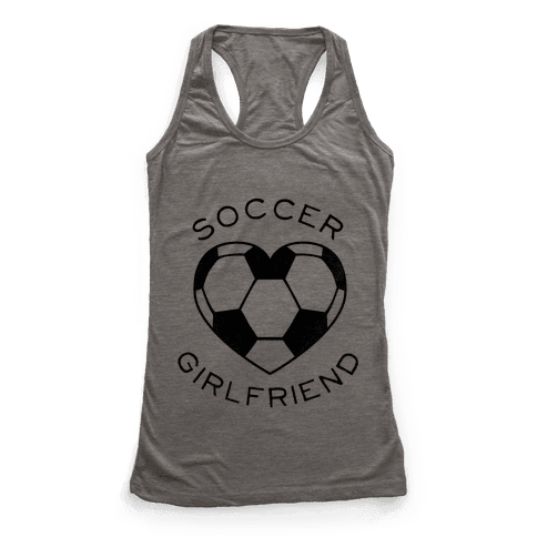 Soccer Girlfriend (Baseball Tee) Racerback Tank Top