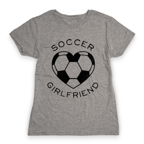 Soccer Girlfriend (Baseball Tee) Womens T-Shirt