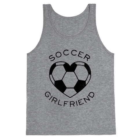 Soccer Girlfriend (Baseball Tee) Tank Top