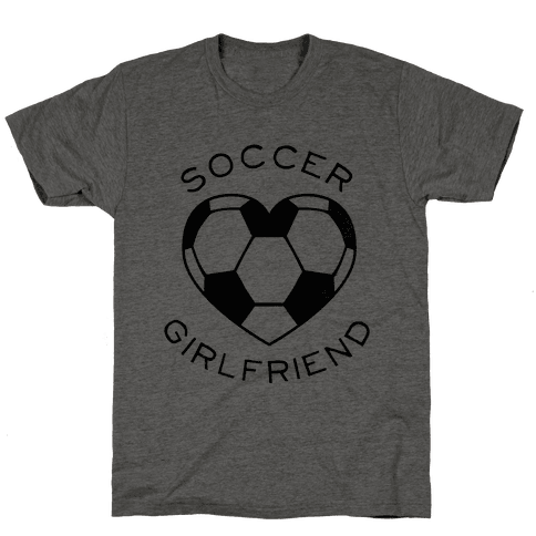 Soccer Girlfriend (Baseball Tee) Mens T-Shirt