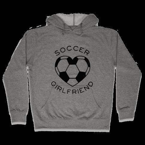 Soccer Girlfriend (Baseball Tee) Hooded Sweatshirt
